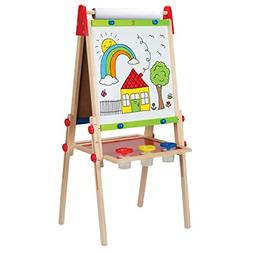Award Winning Hape All-in-One Wooden Kid's Art Easel with Pa