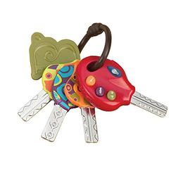 B. toys – LucKeys – 4 Textured Toy Keys for Babies and T
