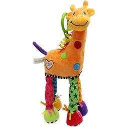 BABYFANS Toys Little Giraffe Bed Lathe Hanging Rattles Baby