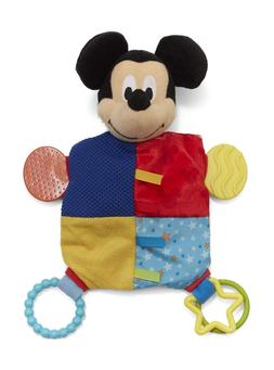 """Disney Baby Mickey Mouse Plush Teether Blanket, 12"""""""