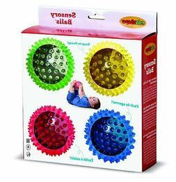 Edushape See-Me Sensory Balls, 4 Inch, Translucent, 4 Ball S