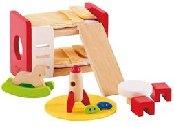 Hape Wooden Doll House Furniture Children's Room with Access