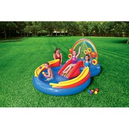 Intex, 57453EP, Rainbow Ring Inflatable Play Center, Ages 2+