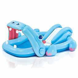 """Intex Hippo Play Center with Built-in Slide, 87"""" x 74"""" x 34"""""""