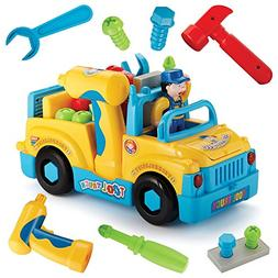 Liberty Imports Multifunctional Take Apart Toy Tool Truck Wi