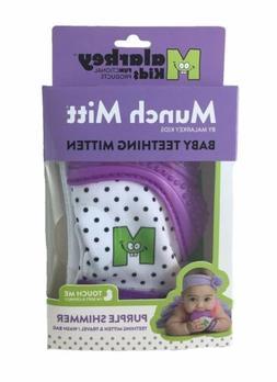 Malarkey Kids Munch Mitt, Purple Shimmer, One Size