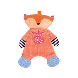 Manhattan Toy Teether Fox Snuggle Blankie Toy