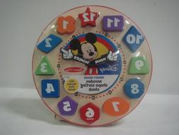 Melissa & Doug Disney Mickey Mouse Wooden Shape Sorting Cloc