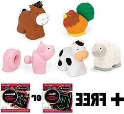 Melissa & Doug K's Kids Pop Blocs Farm Animals + FREE Scratc