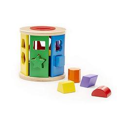 Melissa & Doug Match & Roll Shape-Sorter, Classic Wooden Toy