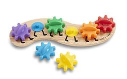 Melissa & Doug Rainbow Caterpillar Gear Toy With 6 Interchan