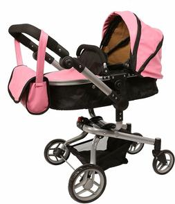 Mommy & me 2 in 1 Deluxe Leather doll stroller EXTRA TALL 32