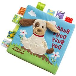 Taggies Touch & Feel Soft Cloth Book with Crinkle Paper and