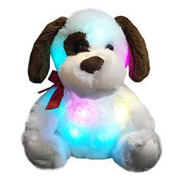 WEWILL Glow Puppy Stuffed Animal Dog Plush Toy, Nice Gift fo