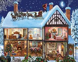 White Mountain Puzzles Christmas House - 1000 Piece Jigsaw P