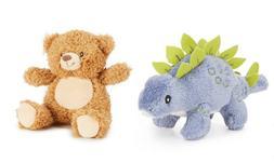 "Starting Out Accessories Dinosaur & Bear Pair 3"" Soft Plush"