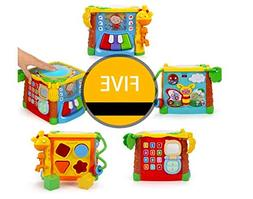 KIDSNOB Activity Cube - 5 in 1 Music Play Cube with Drum Toy