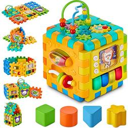 BABYSEATER Baby Activity Cube – 6-in-1 Multi-Assembly Acti