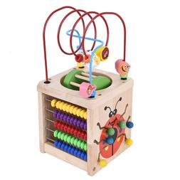 Activity Cube Box Toys Development Baby Kid Wooden Puzzle Be