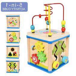 Activity Cube Toys Baby Educational Wooden Bead Maze Shape S