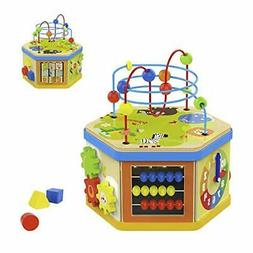 TOP BRIGHT Activity Cube Toys Baby Educational Wooden Bead M