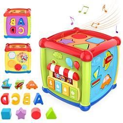 TUMAMA Activity Cube Toys, Baby Early Educational Toys for 1