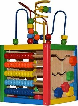 Play22 Activity Cube with Bead Maze - 5 in 1 Baby Activity C