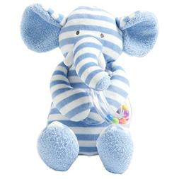 Manhattan Toy Baby Activity Plush Toy with Ring Rattle, Blue