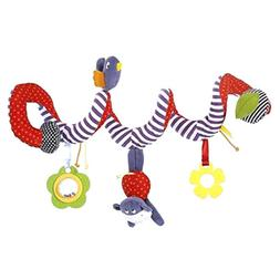 Baby Rattles Toy Activity Spiral Stroller Car Seat Travel La
