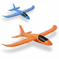 Airplane 2 Pcs,Outdoor Game Flying Toys for 3 4 5 6 7+ Year