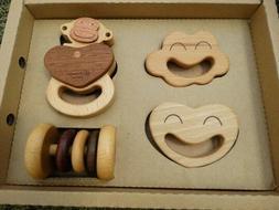 All Natural Wooden Toys Baby Rattles and Teethers