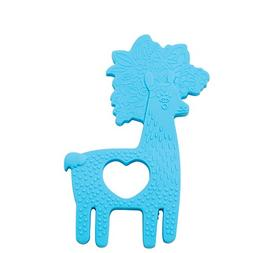 Manhattan Toy Animal Shapes Llama Silicone Teether, Blue