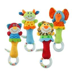 Animal Toy Bed Bells Kids Baby Soft Toys Rattle US