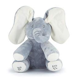 JamBea Peek-a-Boo Elephant Plush Toy- Animated Hide and Seek
