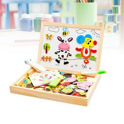 Art Puzzles Magnetic Animals Toys for Baby Play Early Educat
