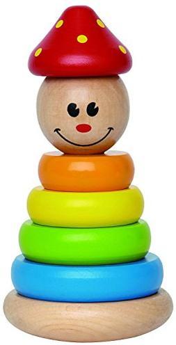 Award Winning Hape Clown Stacker Toddler Wooden Ring Toy