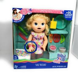 Hasbro B0632 Baby Alive Super Snacks Snackin`Sara Blonde Dol