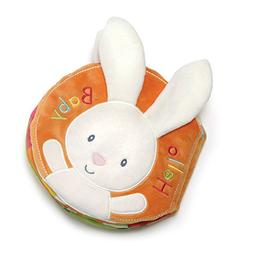 "Baby GUND Flora Bunny Soft Plush Activity Book 8"", Multicolo"