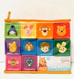 Disney Baby 10 Soft Blocks Colorful Winnie The Pooh Toys For