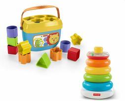 Baby 10 Sorting Blocks 5 Stacking Rings Bundle Colorful Carr