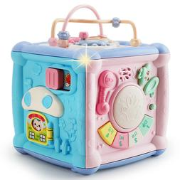 Baby Activity Center Toys Cube Blocks Shape sorter with Musi