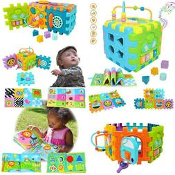 Baby Activity Cube Multi-Assembly Busy Play Center Toys 7 In