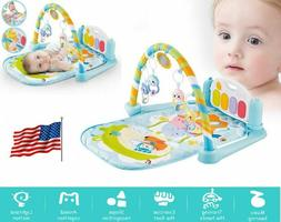 Baby Activity Gym Playmat with Piano Newborn Infant Play Gym