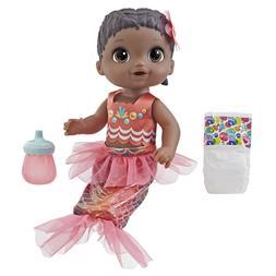 Baby Alive Shimmer N Splash Mermaid Baby Doll, Black Hair, A