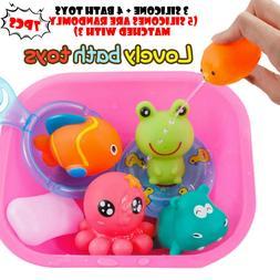 baby bath toys cartoon marine animals kids