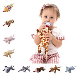 Baby Boy Girl Dummy Pacifier Chain Clip Plush Animal Toys So