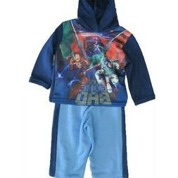 Disney Baby Boys Blue Toy Story Character Print Hooded Strip