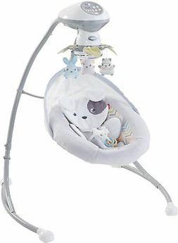 Baby Cradle Swing Gear Snugapuppy Rocker Music Toys Mirror F