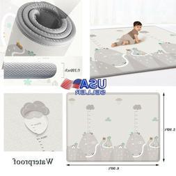Baby Crawling Baby Gyms & Play Mats Reversible Foam Kids Act