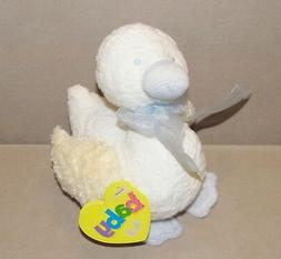 "Amscan Baby Cream Blue Goose Duck Chick Rattle Plush 7"" Toy"